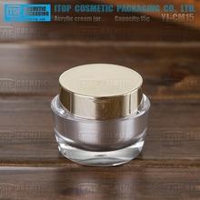 Yj-cm15 15g renk özelleştirilebilir oval şekil akrilik plastik 0.5oz kozmetik toptan küçük kavanoz