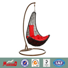 rattan hanging swing chair+garden chair and table