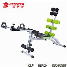 Meilleur js-060sc 2014 chaud- vente portablesix care pack pro multi fonctionnelle vélo équipement de gymnastique abdominale hélicoïdal. fitness vélo de ski nautique