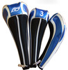 3pcs/set wholesale custom PU golf driver fairway club head cover