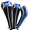 3pcs/set wholesale custom PU golf driver fairway club head cover