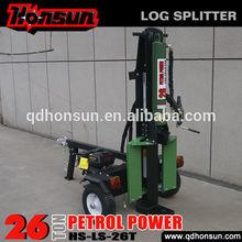 CE EPA certificate 6.5hp 200cc Honda GX200 gas engine horizontal vertical 26t log lift for log splitter