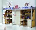 beliebte heiße Verkauf billig funky herstellung rahmen metall etagenbett mit schreibtisch von guangzhou everpretty fabrik