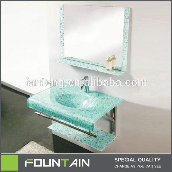 Lavabos Vidrio Para Baño: de vidrio lavabo con soporte de color verde cristal cuencas para baño