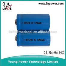 Cr123a 16.340 1250 mAh ricaricabile al litio 3v forte luce della torcia elettrica batterie 3v batteria ricaricabile