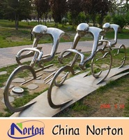 garden decoration bicycling stainless steel sport sculpture NTS-114