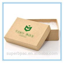 OEM Small / Medium size brown kraft natural recycled box - 77 x 52 x 25mm