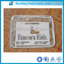 2014 new clear pvc high quality environmental protection zipper carry packet