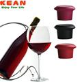 silicona de grado alimenticio de bpa libre de decoración de la boda de la botella de vino cubierta