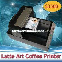 [WORLD BEST]-Online Selling Latte Art Coffee Printer Automatic Edible Food Printer for Cookies,Chocolate etc.