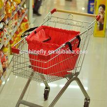 foldable supermarket shopping cart bag