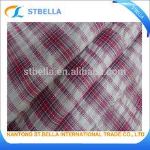 100% cotton yarn dyed seersucker fabric