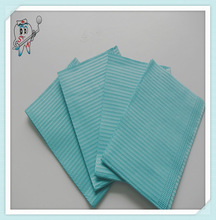 2-ply paper + 1-ply poly or 1-ply paper+ 1-ply poly blue disposable dental patient bibs