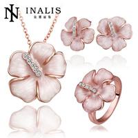 Handmade Newest Rose Gold 18K Alloy Gold Jewels Set