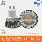 high quality gu10 520lm RA80 Epistar 5w led cob ampoule led
