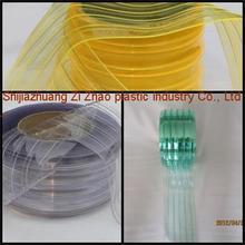 PVC soft board/ transparent soft sheet/ribbed pvc strip curtains