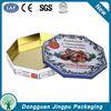 Octagonal food grade biscuit tin box