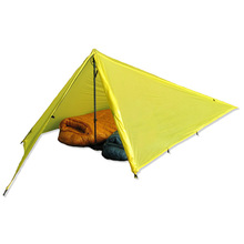 Camping tent with inflatable mattress