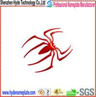 custom plastic adhesive car sign names spider logo