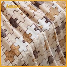 vendita calda in pile offset stampa design personalizzato maglia coperta patchwork