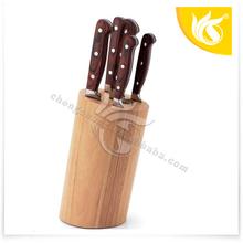 Best Seller Custom Stainless Steel Kitchen Knife Set With Wooden Block