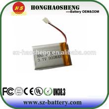 900mah li-ion battery 3.7v 900mah li-ion battery 803040 for gps