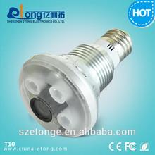 Fine cctv 720P motion detect hd mini camera,hidden camera light bulb T10