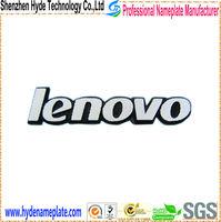 custom adhesive metal cheap brand lenovo computer logo stickers