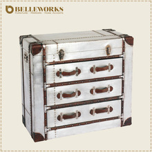 Vintage reclaimed wood furniture chest of drawers