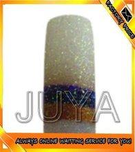 JY-GT43 Set of 100 PCS French Acrylic Fake False Candy Half Nail Art Tips