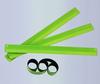 glow in dark LED PVC Reflective slap wrap elastic reflective velcro armband