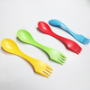 Multi function out camping plastic 3 in 1 spoon fork knife