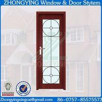 100 sets wholesale clear glass insert pvc door