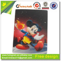3d movimiento en movimiento lenticular etiqueta de dibujos animados imagen tarjeta de etiqueta