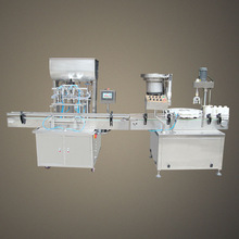 Automatic rotary type oil filling and capping machine