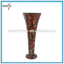 Home decoration red floral vase