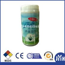 Skin care non alcohol aloe vera wet wipes