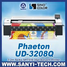 UD-3208Q, large format printer machine, with seiko SPT510/35pl printhead