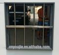 Casa 0001tl pvc/de aluminio ventana de hierro forjado diseño de la parrilla