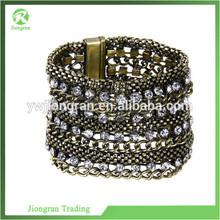 JP130 Fraise alloy chain bracelet top brand fashion female jewelry PUNK luxury Wide bio magnetic bracelet