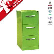 kids bedside glossy apple green 3 drawer closets cabinet/apple green kids drawer cabinet under study desk