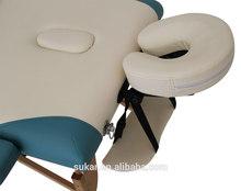 Double color 2 body portable wood thai massage table
