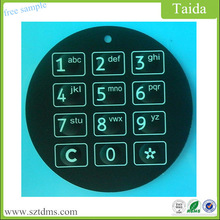 Safety Device Membrane Keypad Panel With Embossed Buttons