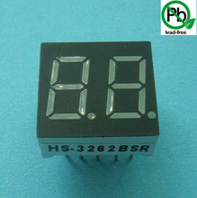Popular 7 segment led display two/double/dual digit 0.36 inch
