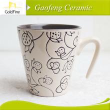 white porcelain decorative ceramic mugs factory directly