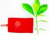 wholesale custom red bag with beads for chirstmas gift phone bag velvet bag