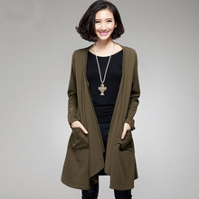 W9202 army green plus size european edition two colors hollow decoration back coat