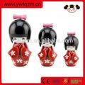 venda quente 3 pcs conjunto japonesa kokeshi bonecos de madeira