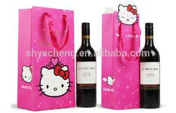 Custom fashion wine bottle paper bag/wine paper bag/wine paper gift bag(YC3317)