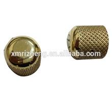 Gold Knurling Surface Finishing Round Head Metal Turning Cap